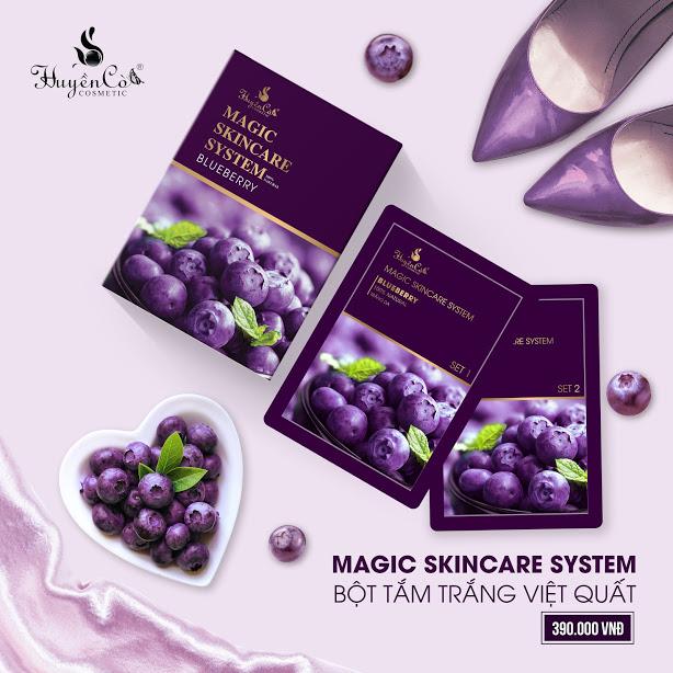 Bột tắm trắng Việt Quất Huyền Cò - Magic Skincare System