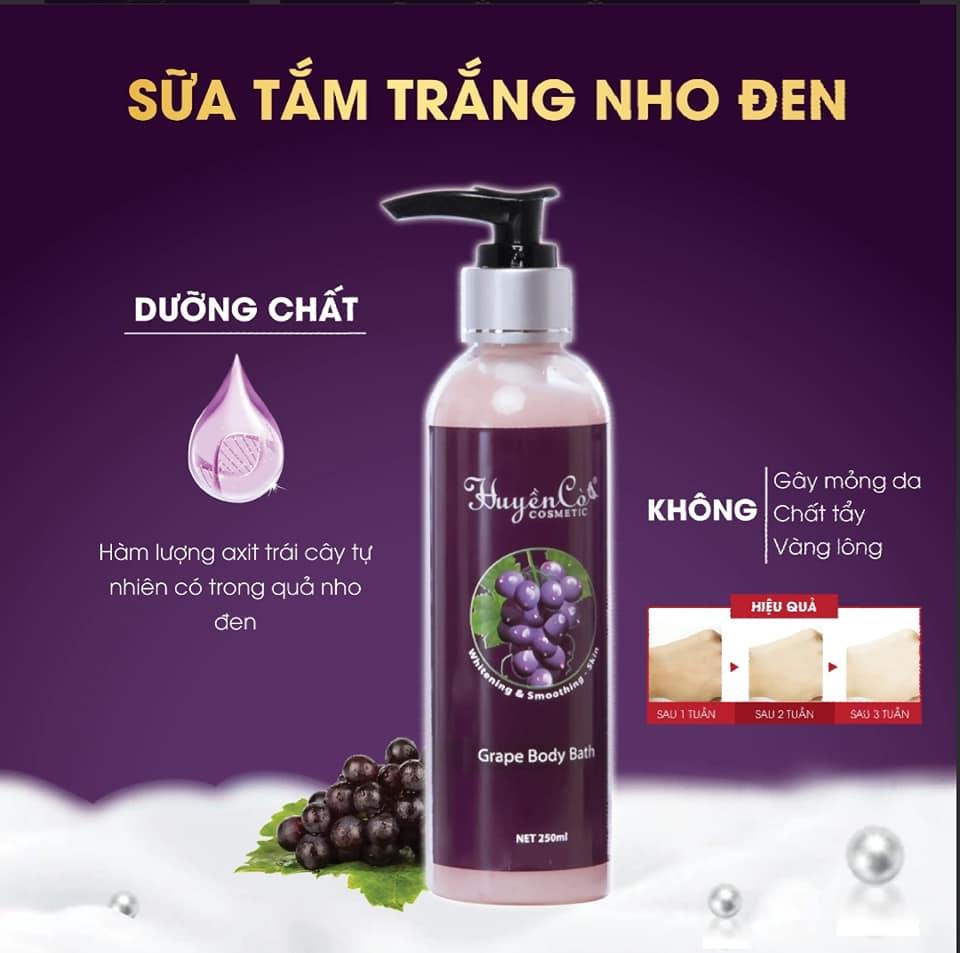 Sữa tắm Nho đen Huyền Cò - Grape Body Bath